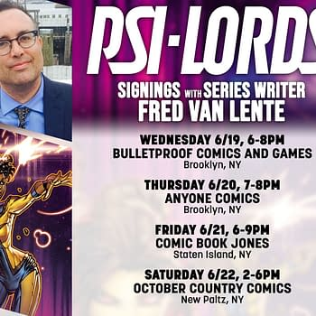 Fred Van Lente Visits New York Comic Shops to Promote Valiants Psi-Lords