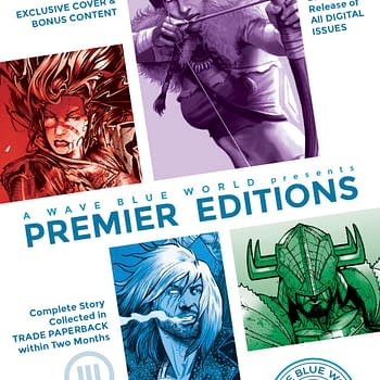 A Wave Blue World Premieres New Series in Limited Edition Flipbooks at San Diego Comic-Con 2019