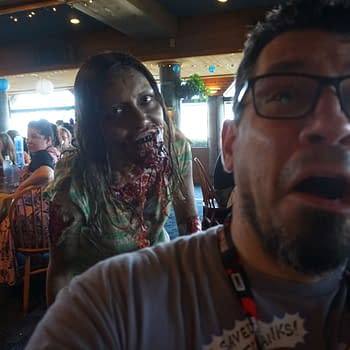 Skybound Insiders Meetup at San Diego &#8211 Pink Signatures Free Drinks and a Couple of the Walking Dead