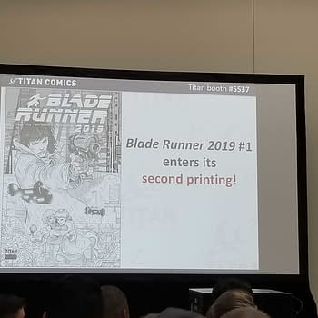 Doctor Who Holiday Special Sellout Blade Runner Rivers Of London and More From Titan Comics Retailer Presentation at San Diego