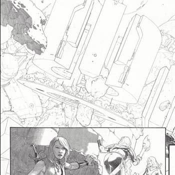 Two Pencilled Pages of King Thor #1 by Jason Aaron and Esad Ribic