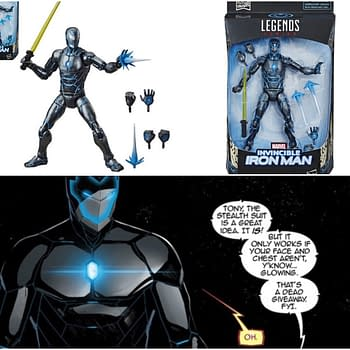 Iron Man Dons the Stealth Suit with New Marvel Legends Figure