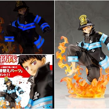 Fire Force Arrives on Scene with New Kotobukiya Statue
