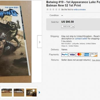 Batwing #19 &#8211 First Appearance of Luke Fox The New Batman Hits $90 on eBay