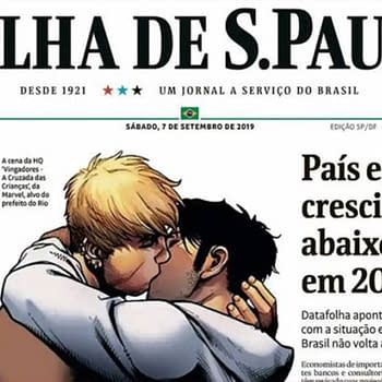 Brazils Biggest Newspaper Puts Marvel Gay Kiss On Its Cover in Defiance of Brazilian Mayor