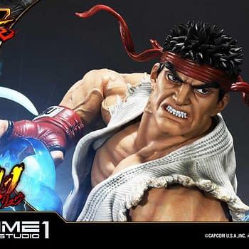 Ryu is Hadouken Ready in New Street Fighter Prime 1 Studio Statue