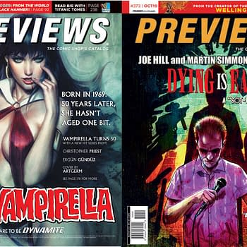 Artgerms Vampirella and Joe Hill and Martin Simmonds Dying Is Easy on Diamond Previews Covers Next Week