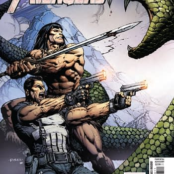 Conan and the Punisher Explore Their Curiosity on a Camping Trip in Savage Avengers #6 [Preview]