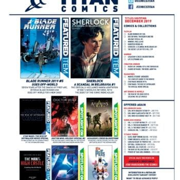 Sherlock, Doctor Who Christmas Special and Blade Runner in Titan Comics' December 2019 Solicitations