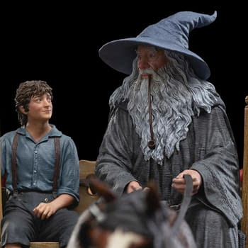 Gandalf and Frodo Head to The Shire in Weta Workshop Statue