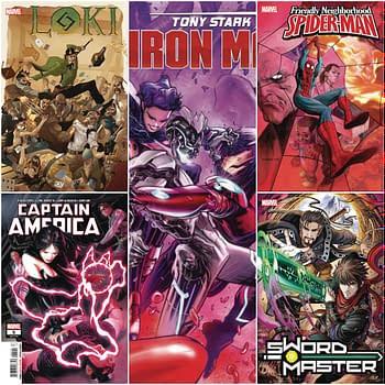Marvel Creative Ch-Ch-Changes to Tony Stark: Iron Man Friendly Neighborhood Spider-Man Sword Master Captain America and Loki