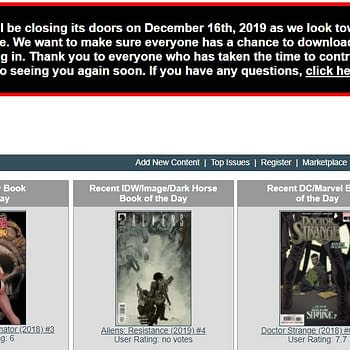 ComicbookDB.com Closing December &#8211 But Will Return New and Improved