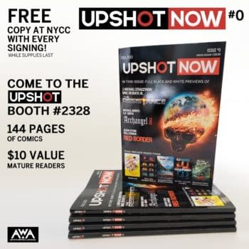 So what's in the AWA's UpShot Now Ashcan Anthology Comic Giveaway at NYCC?