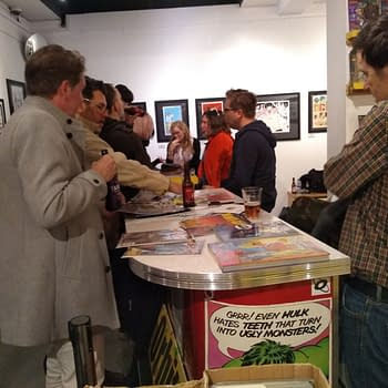 The Black Crown Party and Philip Bond Gallery Launch at Orbital Comics Last Night