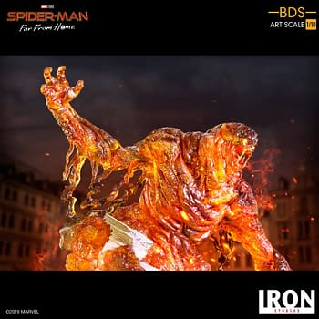 Mysterio Takes On Molten Man In New Iron Studios Statues