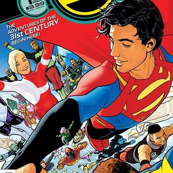 Superboy Explores the Phallic Future in Art from Bendis and Sooks Legion of Super-Heroes #1