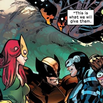 Cyclops Wolverine and Jean Grey &#8211 Marvel Comics First Throuple