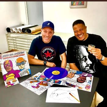 JAKe Creates Superhero Designs For Chali 2na and Krafty Kuts New Album Merch