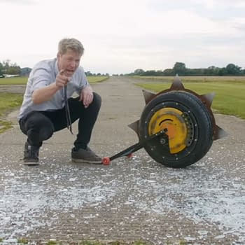 Colin Furze Creates A Real Version Of Junkrats RIP-Tire From Overwatch