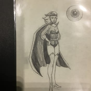 The Jim Shooter Files: His Original Sketch For Legion Of Super-Heroes Villain The Emerald Empress