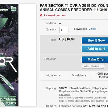 DC Comics Far Sector #1 Selling for $17 on eBay &#8211 is This 5G