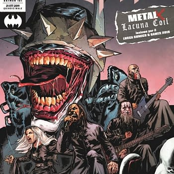 Batman Performs With Lacuna Coil -On Stage and In Comics