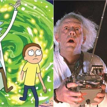 Rick and Morty&#8230 and Marty and Doc Brown Christopher Lloyd Would Find Back to the Future Crossover Fascinating