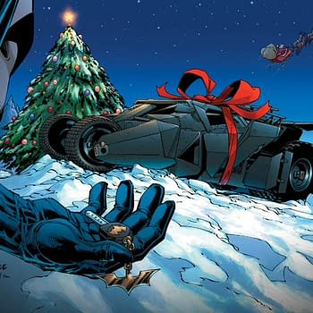 DC Holiday Pin-Up by Jim Lee Reveals Santa Claus is an Illegal Arms Dealer