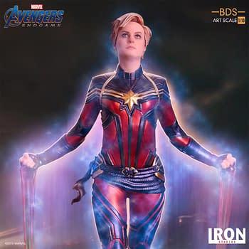 Captain Marvel Goes Cosmic with New Iron Studios Statue