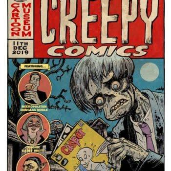 Mark Stafford Draws an Evening Of Creepy Comics for the London Cartoon Museum