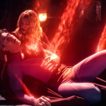 """The Flash -- """"Crisis on Infinite Earths: Part Three"""" -- Image Number: FLA609e_0010r2.jpg -- Pictured (L-R): Brandon Routh as Superman and Melissa Benoist as Kara/Supergirl -- Photo: The CW -- © 2019 The CW Network, LLC. All Rights Reserved."""