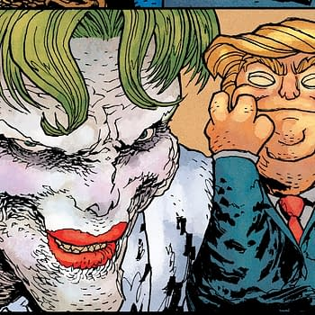 The Joker and Darkseid Campaign For Donald Trump in Dark Knight Returns: The Golden Child from DC Comics