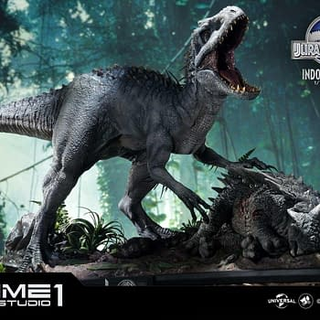 Indominous Rex Is on the Hunt with the New Prime One Studio Statue