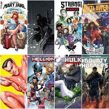 Marvel Comics March 2020 Solicitations &#8211 Bounty Hunters Hellions Spider-Man Noir Strange Academy &#8211 15 Titles Frankensteined