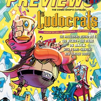 Kieron Gillens The Ludocrats With Garth Ennis The Boys on Cover of Next Weeks Diamond Previews