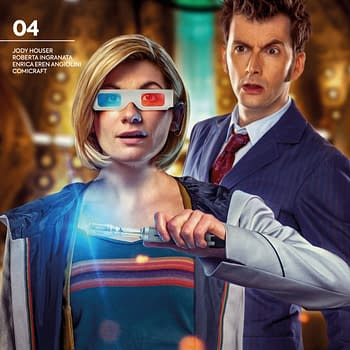 Tenth and Thirteenth Doctor Whos Together Fighting Weeping Angels and Autons in Titan Comics April 2020 Solicitations