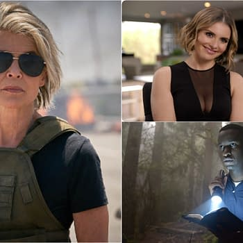 Resident Alien: Terminator: Dark Fate Star Linda Hamilton Enlists Mandell Maughan Alex Barima to SYFY Series Alien Hunt