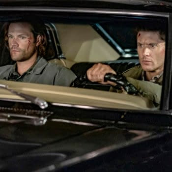 """Supernatural -- """"The Trap"""" -- Image Number: SN1509A_0270bc.jpg -- Pictured (L-R): Jared Padalecki as Sam and Jensen Ackles as Dean -- Photo: Colin Bentley/The CW -- © 2020 The CW Network, LLC. All Rights Reserved."""