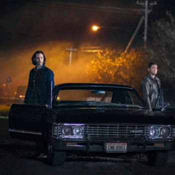 """Supernatural -- """"The Heroes' Journey"""" -- Image Number: SN1510a_0363bc.jpg -- Pictured (L-R): Jared Padalecki as Sam and Jensen Ackles as Dean -- Photo: Bettina Strauss/The CW -- © 2020 The CW Network, LLC. All Rights Reserved."""