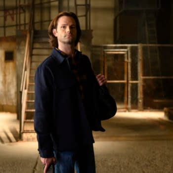 """Supernatural -- """"The Heroes' Journey"""" -- Image Number: SN1510b_0088bc.jpg -- Pictured: Jared Padalecki as Sam -- Photo: Diyah Pera/The CW -- © 2020 The CW Network, LLC. All Rights Reserved."""