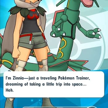 """Rayquaza & Trainer Zinnia Have Arrived In """"Pokémon Masters"""""""