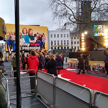 Military Wives Choir Singing at Leicester Square Ahead Of Tonights Premiere