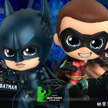 Batman Forever Cosbaby Figures Arrive with Hot Toys