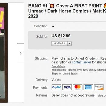Matt Kindt and Wilfredo Torres Bang #1 Booms On eBay