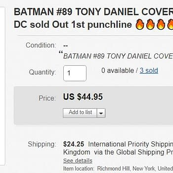 Advance Sales of Batman #89 for $45 and Hell Arisen #3 For $28