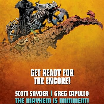 The Batman-With-A-Scythe-And-Bone-Motorbike Teaser for DCs Metal 2: Death Metal from Scott Snyder and Greg Capullo