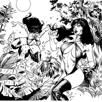 Vampirella vs. Vampirella in This Vengeance of Vampirella #7 Early Art Preview