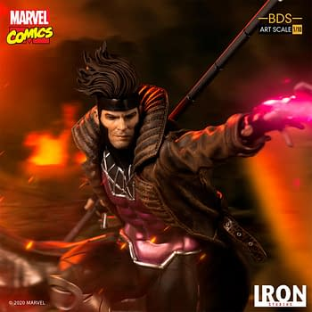 Gambit is Fully Charged in New X-Men Iron Studios Statue