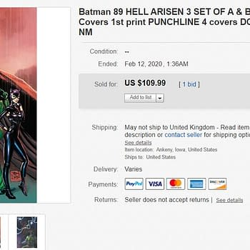 Batman #89 (Both Covers) and Hell Arisen #3 Sell in Advance For $110 on eBay &#8211 Whats the Punchline