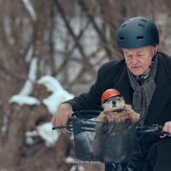 """Bill Murray Gets Help Making His """"Groundhog Day"""" Hell More Bearable, Thanks to Phil & Jeep [VIDEO]"""